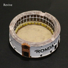 Revive cigarette ashtray smoking plate tray resin 9.5 cm bullring round building style sand table accessories castle