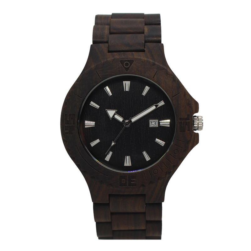 TJW2018New Mens Wooden Watch Sport Watches Men Waterproof Bamboo Wooden Watch Fashion Watch as Gift Item
