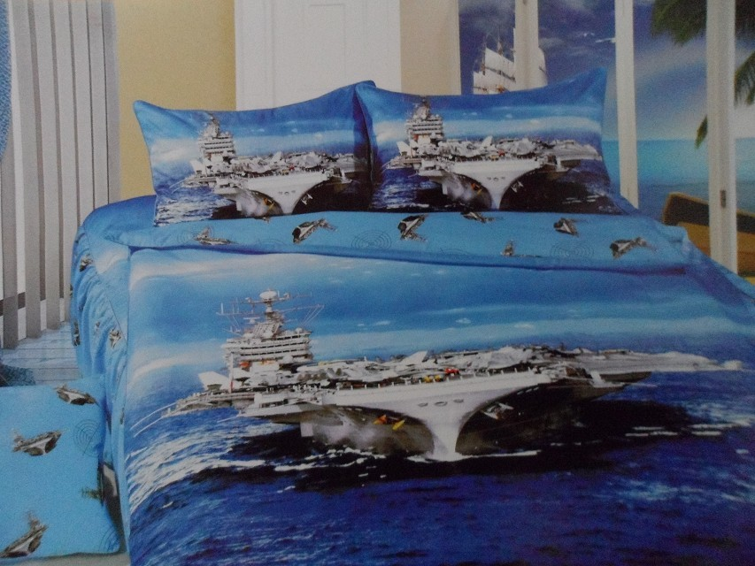 blue aircraft carrier bedding single twin size bed quilt duvet cover sets bedcloth Child bedroom decoration cotton fabric 3-5pc