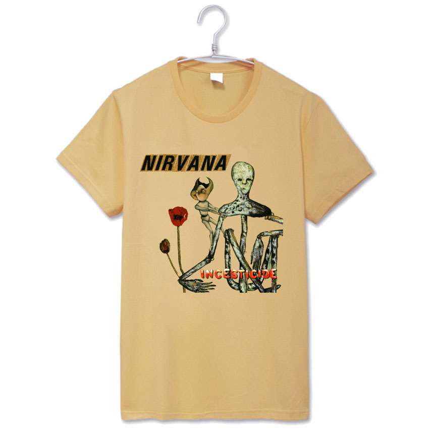 kurt cobain nirvana rock fashion vintage t shirt