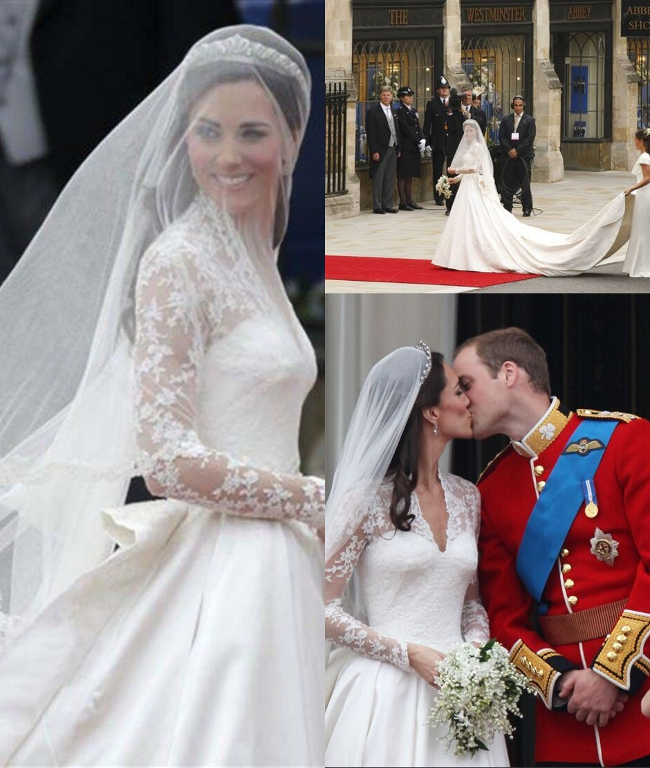 Hot White 2T Wedding Veil Kate Middleton Bridal With Lace Edge Bridesmaid Exquisite Appliques Accessories In Veils From Weddings