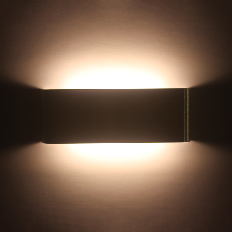 Modern Minimalist 6W LED Wall Sconce Aluminum Rectangle Wall Light Wall-mounted Bedside Lamp AC85-265V for Indoor Home Lighting new 120degree waterproof cube cob led light wall lamp modern home lighting decoration outdoor wall lamp aluminum 6w ac85 265v