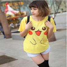 H988 2017 Summer New Student Kawaii Pokemon T Shirt Girls Pikachu T-shirt Short Sleeve Tshirt Loose With Plus Size Women T Shirt