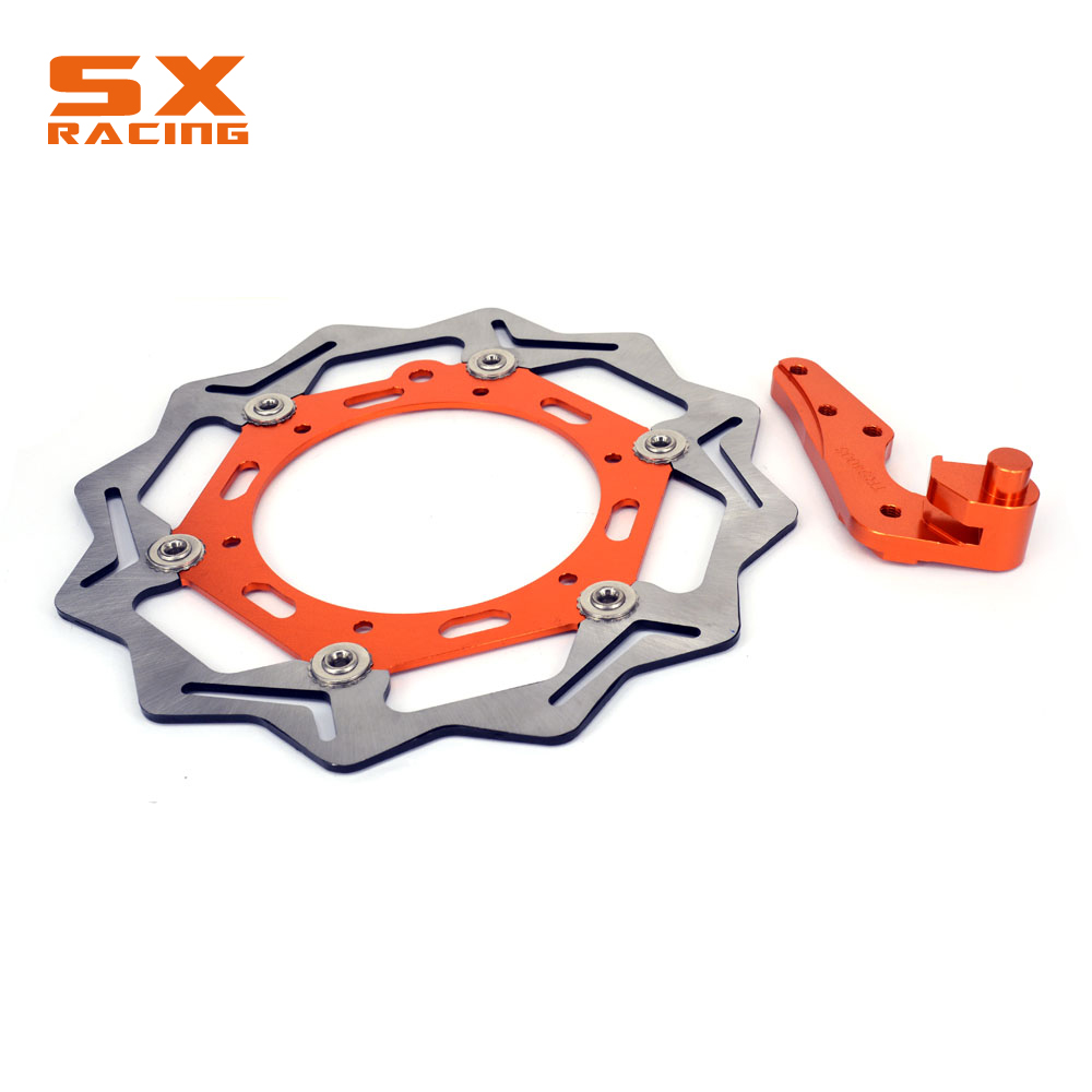 Motorcycle Front Floating Brake Disc And Bracket For KTM EXC SX GS MX SXS MXC SXF XC-W XC-G XC-F SXC EXC-F EXC-G LC4 125-640Motorcycle Front Floating Brake Disc And Bracket For KTM EXC SX GS MX SXS MXC SXF XC-W XC-G XC-F SXC EXC-F EXC-G LC4 125-640