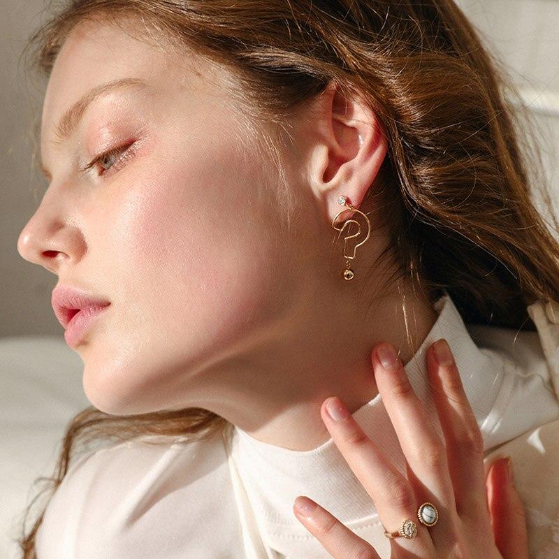 (4 pcs/set ) 2018 New Trend Fashion Jewelry Gold/Silver Filled Asymmetrical Mark Symbol Stud Earrings Set For Women Bijoux