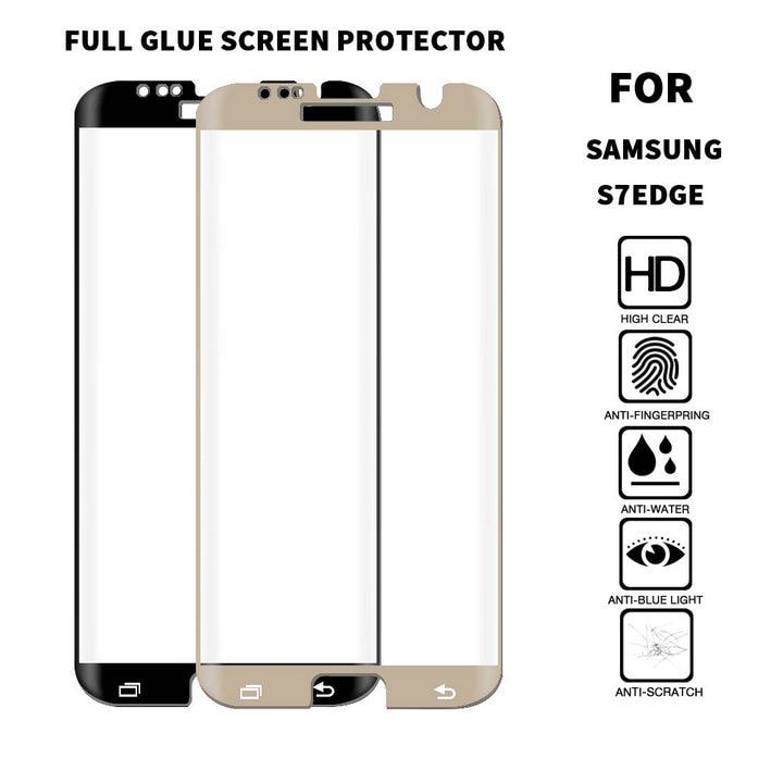 ALINK Neue Volle Kleber 3D Gebogen Gehärtetem Glas screen protector film Fall für Samsung Galaxy S7 Rand Freundliche Gorilla