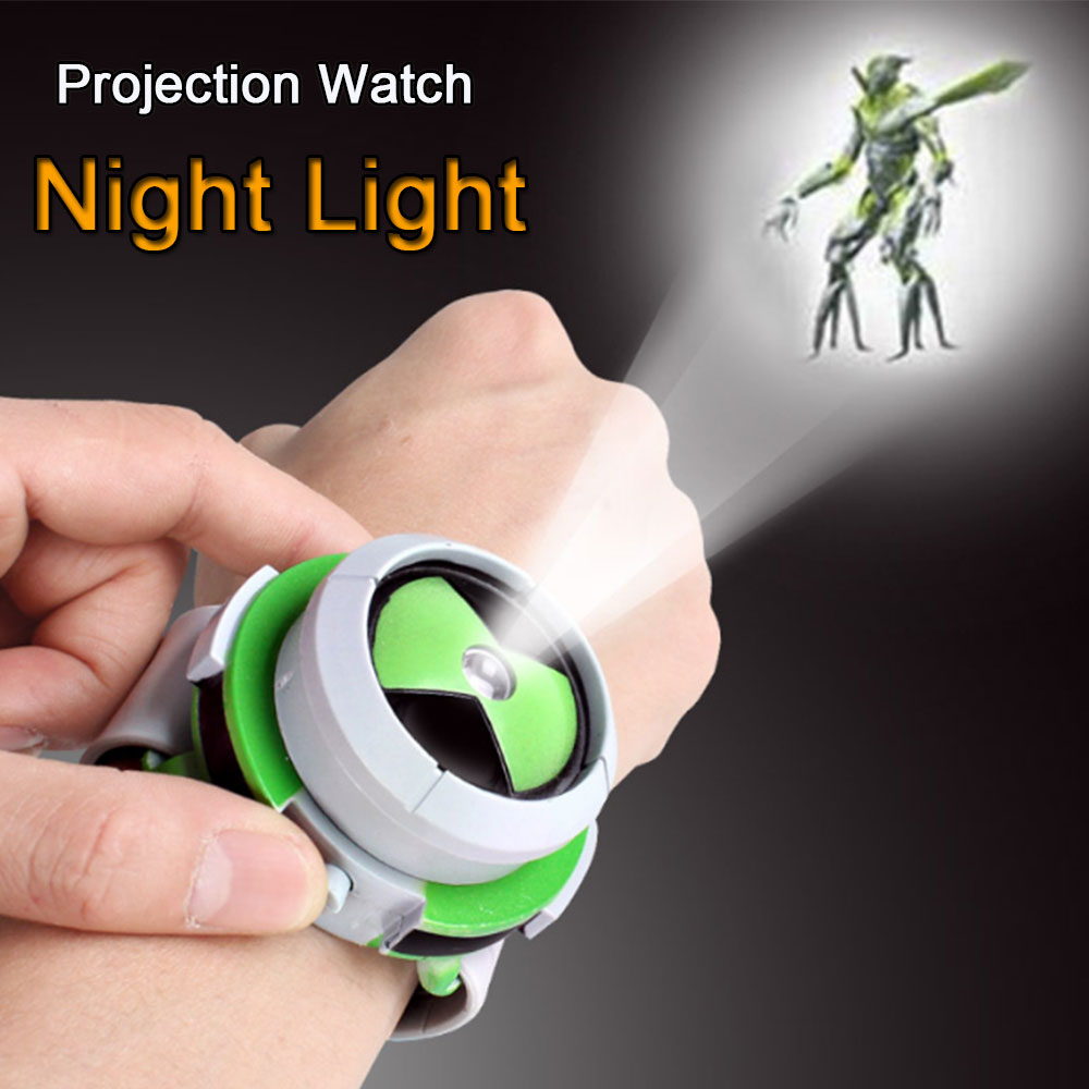 Projection Watch Night Light Craetive Medium Projector Children Night Lamp for Baby Kids Bedroom Toys for Children
