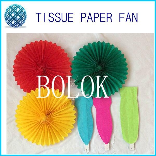 20pcs / lot 12 inch (30cm) pliabil Tissue Paper fan - Produse pentru sărbători și petreceri