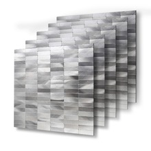 Wholesale 4 Sheets Peel and Stick Wall Tiles Backsplashes 12 X Waterproof Metal Stickers for Decor 30cm Alloy