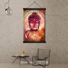Buddha Mural HD Paint  Scroll Painting HD Wall Art Hanging Canvas Painting HD Printed Pictures for Living Room Decoration