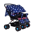 Colourful Double Stroller for Twins,New Large Size Baby Carriage Pram Twins,Portable Baby Sleeping Car,Newborn Stroler Pushchair