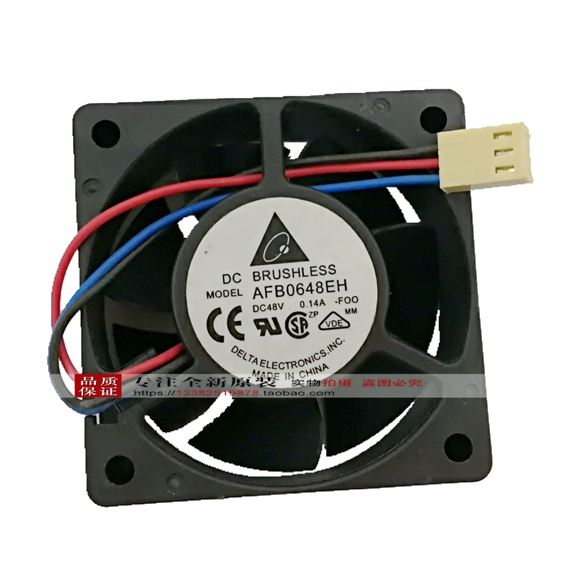 Two Ball Bearing for Delta fan 48V Server fan 6025 0.26A AFB0648DH 6CM 4Pin