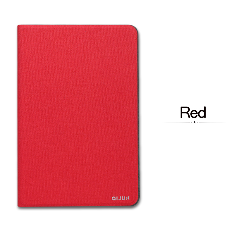 Red White QIJUN For iPad 10 2inch 2019 Flip Tablet Cases Fundas For iPad 7th 2019 10 2