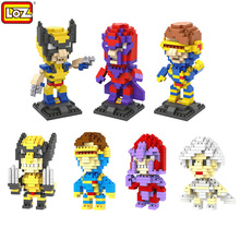 LOZ  X-Men Building Blocks Diamond Marvel Super Hero Cyclops Magneto Wolverine Storm Figures 3D Bricks Early Educational toys