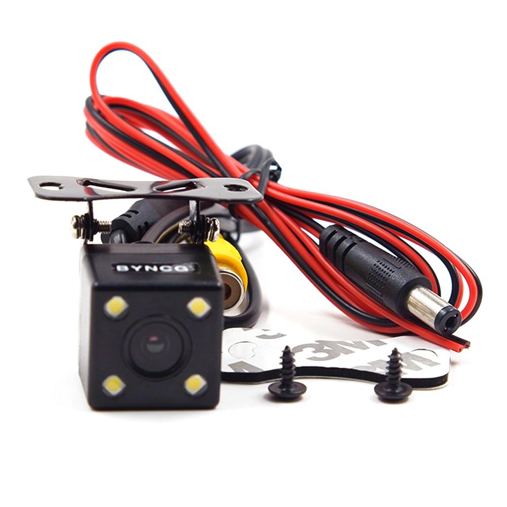 BYNCG WG1 широкий градусов 4 Светодиодный светильник ночного видения автомобильная парковочная камера заднего вида водонепроницаемый HD CCD Датчик