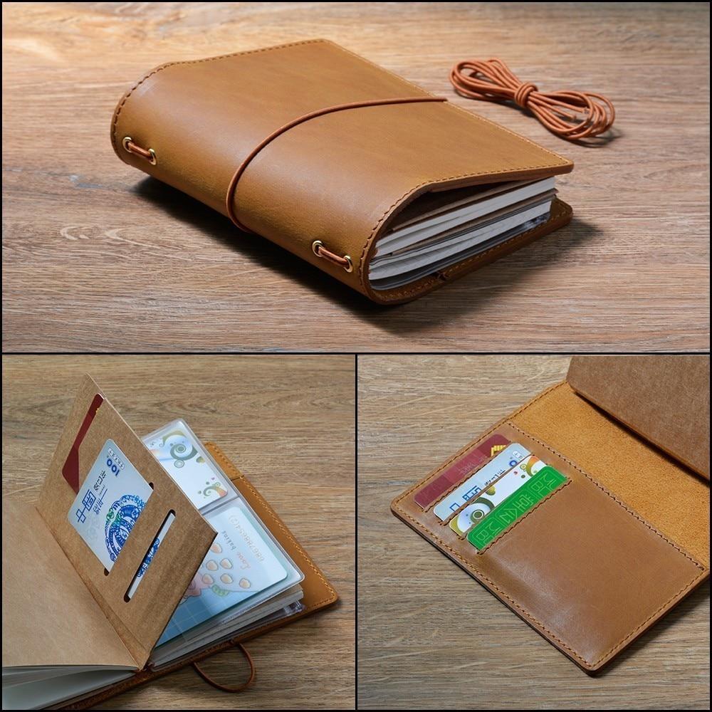 100% din piele naturală Planificator de notebook-uri manuală Bullet - Blocnotesuri și registre - Fotografie 5