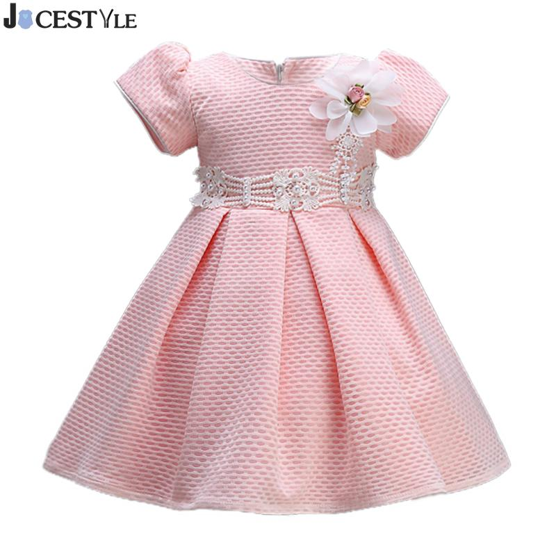 Spring Floral Girl Dress Baby Princess Tutu Dress Infant Party Wedding Birthday Girl Pink Flower Dresses Tutu Ball Gown Clothes baby infant girl 1 year birthday party tutu dress 0 3 y toddler sleeveless princess wedding flower girls dresses clothing gdr267