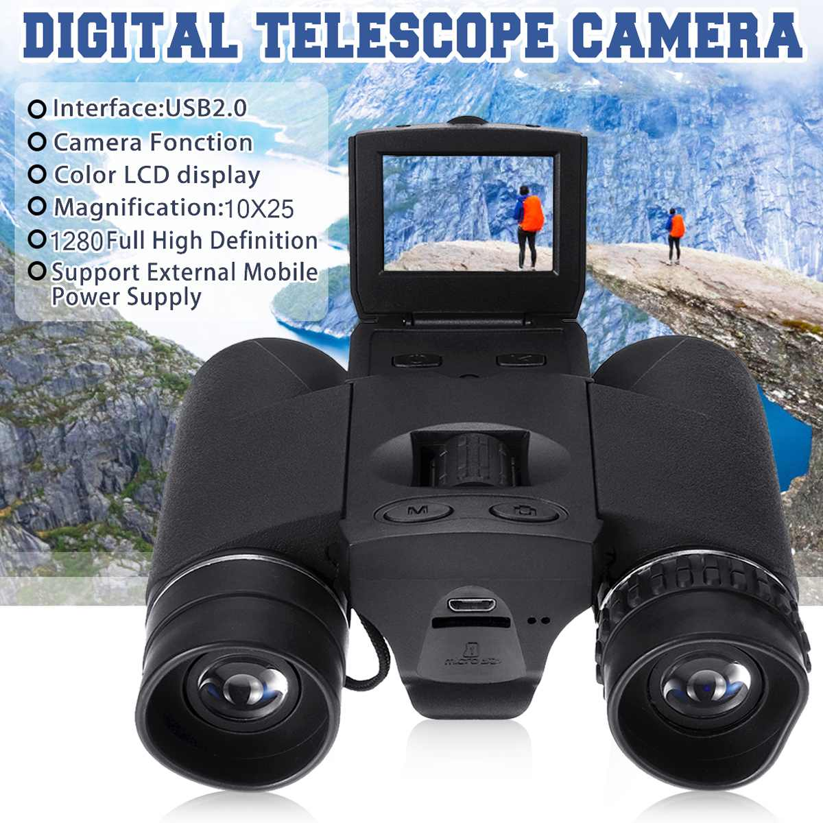 New Full HD 2inch LCD BD318 Zoom Digital Binoculars Telescope Video Camera Outdoor Telescope Hunting Camera Telescope 12X32 Hot