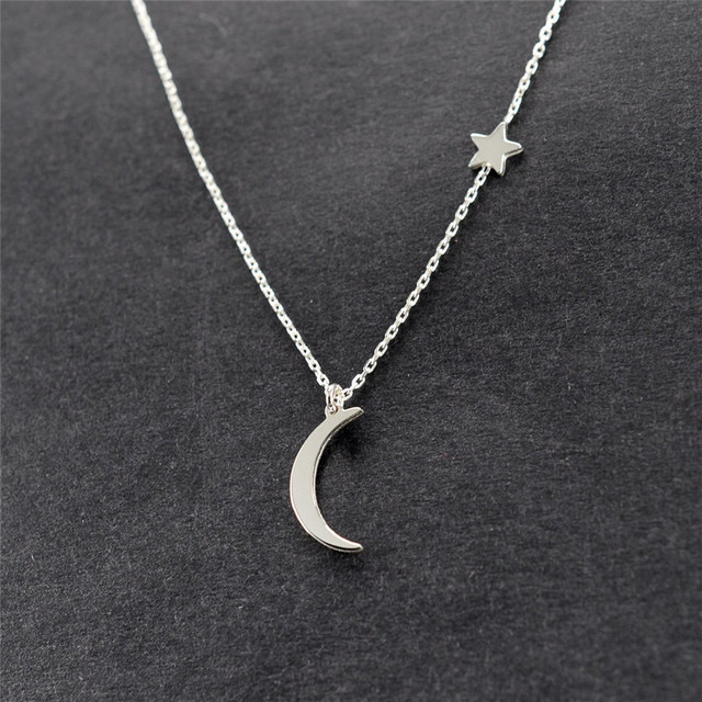 Ahmed Simple Star & Moon Pendant Necklace For Women 1