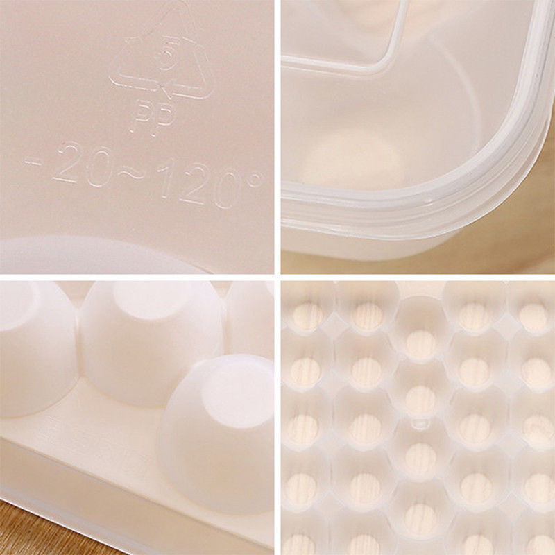Image 5 - Clear 34 Grid Single Layer Egg Box Basket Organizer Plastic Egg Food Container Storage Box Home Kitchen Transparent Case Egg Box-in Storage Boxes & Bins from Home & Garden