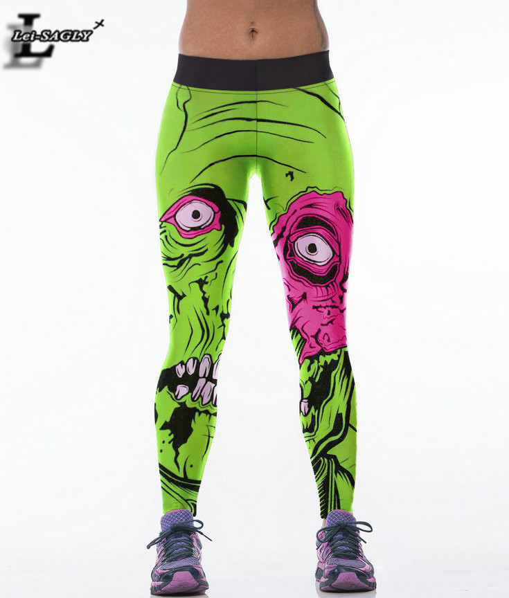 Zombie 2017 Spring Autumn Pants Casual Fitness Youth Sexy Gothic   Leggings   Women Seamless Capris F1468