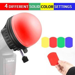 Image 3 - TRIOPO MagDome цветной фильтр отражатель сот фотоаксессуары наборы для вспышки GODOX YONGNUO