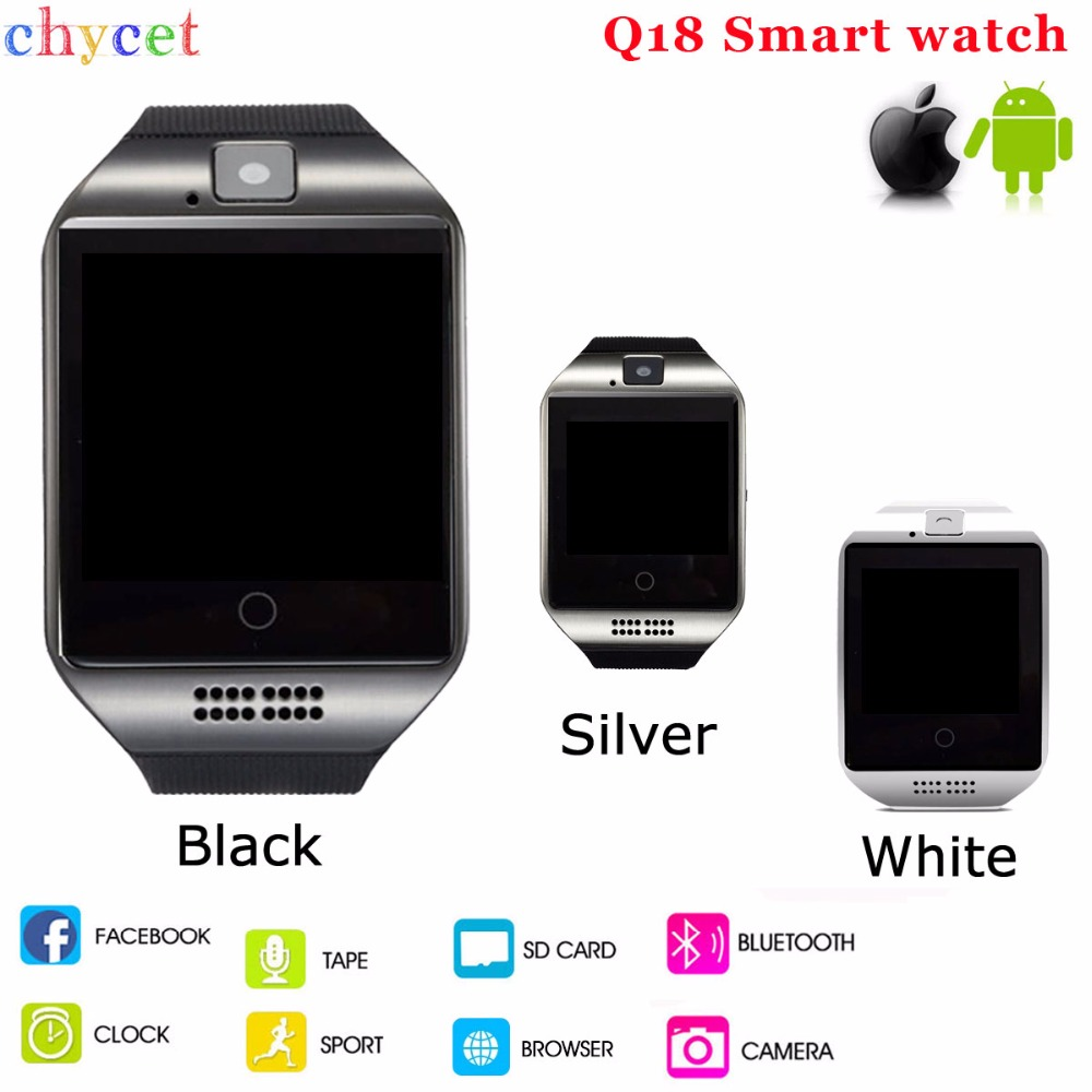 Chycet Q18 Smart Watch Passometer Wearable Devices Bluetooth Connect Clock Support SIM Card Smartwatch for Android