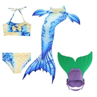 Children Mermaid Tail with Monofin Kids Girls Costumes Swimming Mermaid Tail Mermaid Swimsuit Flipper for girls