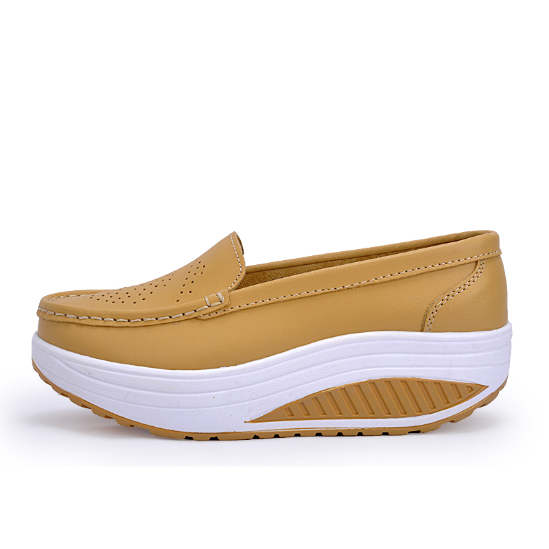 New Womens Shake Shoes Lady Genuine Leather shoes (39)