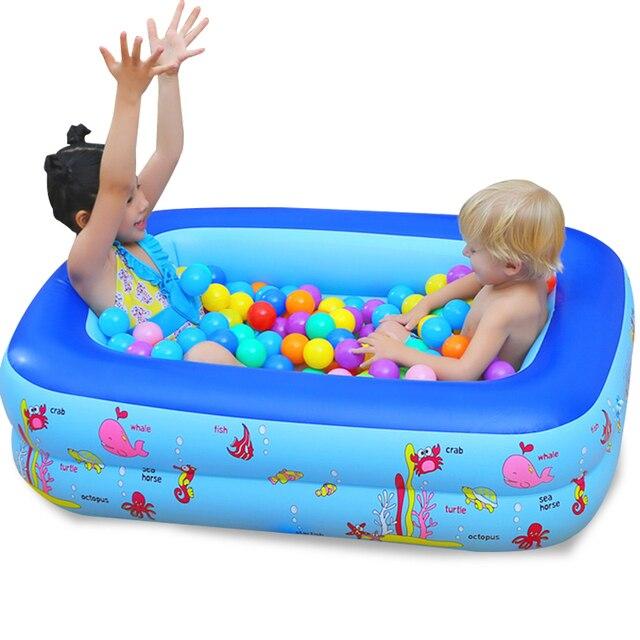 Piscina inflable bebé Piscina portátil al aire libre recipiente para niños bañera niños Piscina bebé Piscina cuadrada Shpe 4