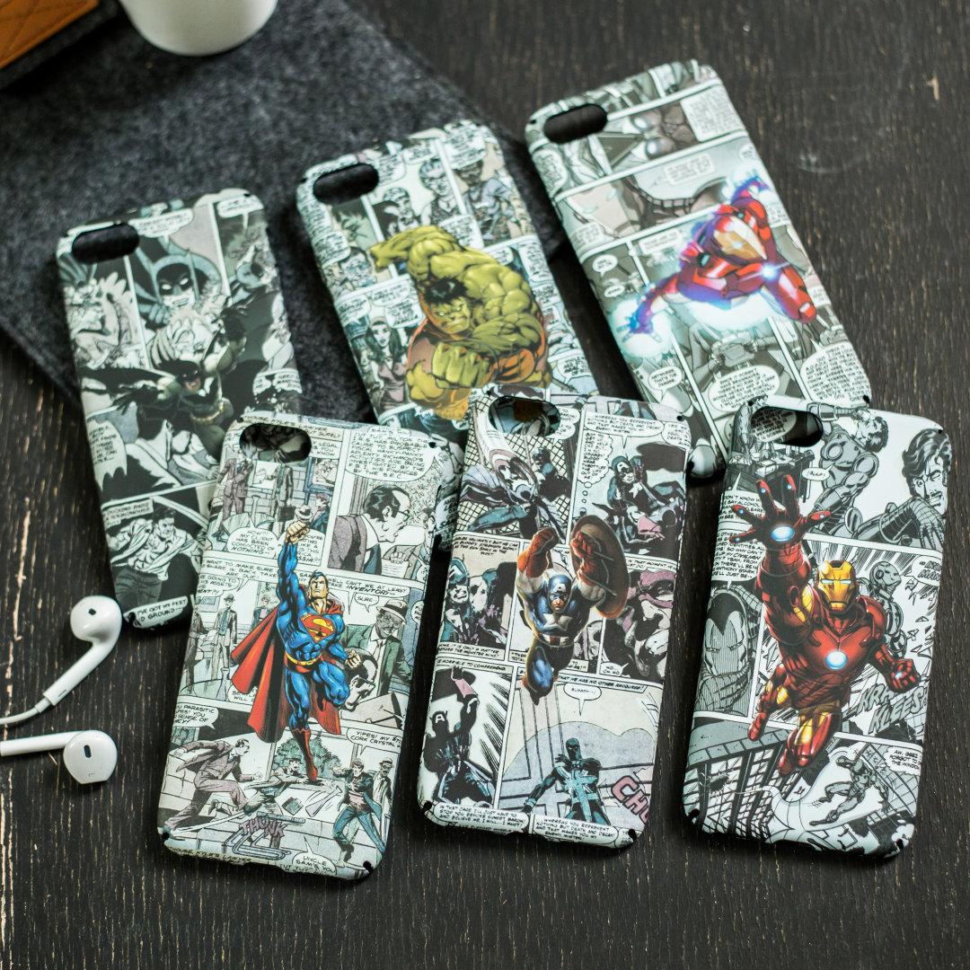 for-iphone-5-5s-se-6-6plus-6s-plus-7-7plus-8-x-case-full-protection-scrub-matte-hard-pc-cover-font-b-marvel-b-font-spiderman-batman-luminous