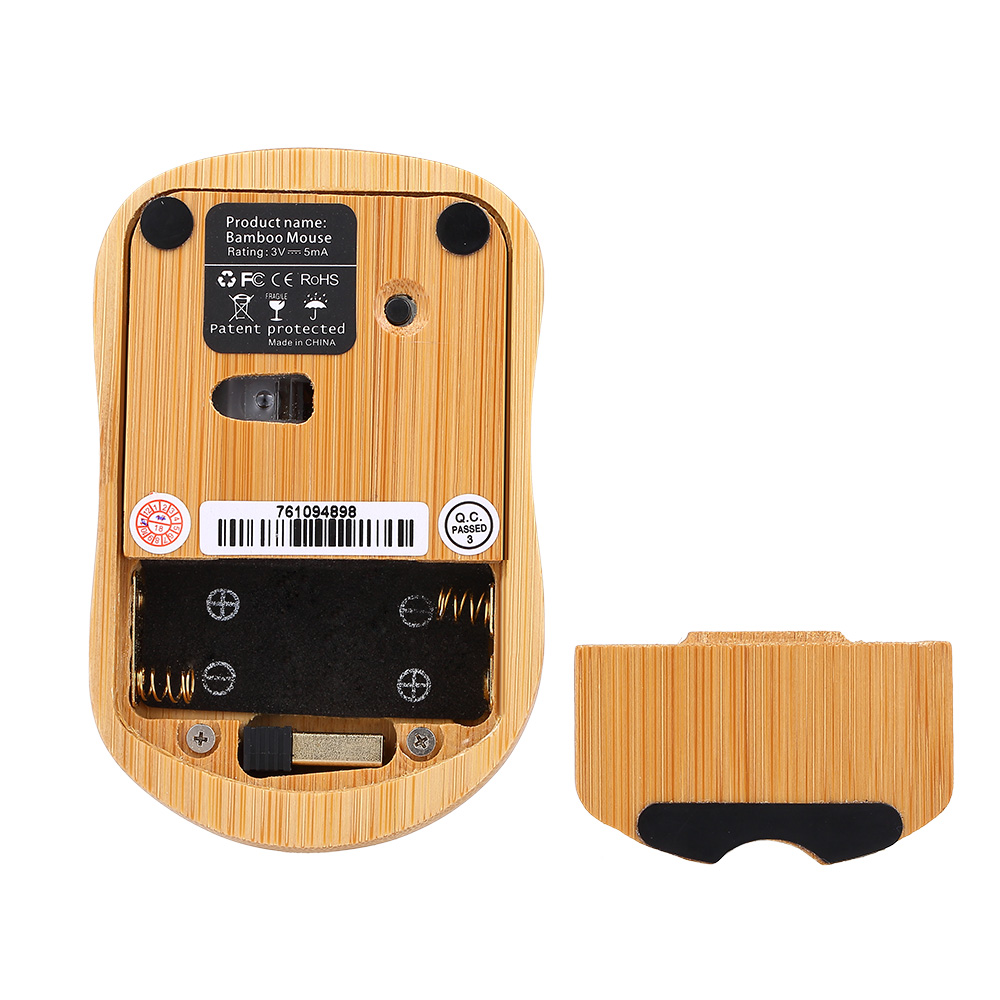 Handcrafted 2.4G Wireless Natural Bamboo Wood PC Keyboard & Mouse Set Computer Keyboard Plug and Play office home 34