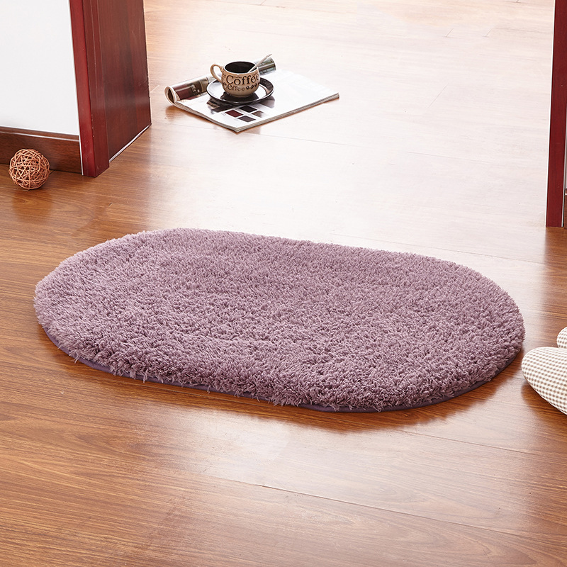 Valanorean Gray Purple Color Oval Rug Carpet Living Room