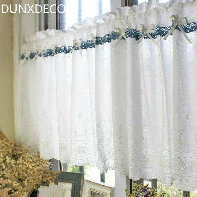 Dunxdeco Rideaux Courts Pour Porte De Cuisine Moitie Cortinas