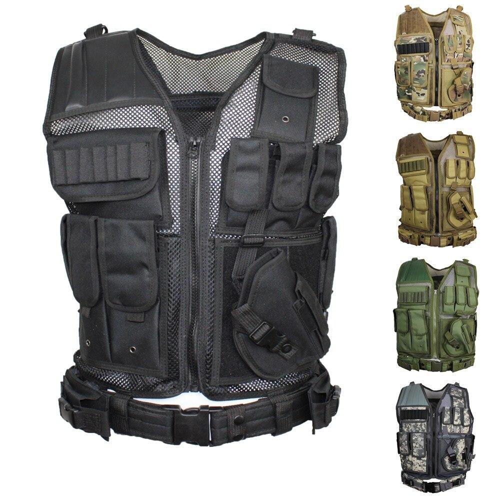 Bellissimo Abbigliamento Militare Gilet Tattico Chemise Militaire Uniforme Militar Army Camicia Di Combattimento Tattico Di Caccia Multi-funzionale Vest Da Processo Scientifico