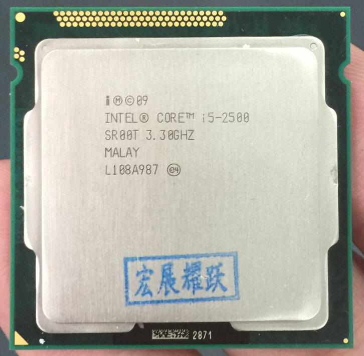 Intel Core i5-2500 i5 2500 Quad-Core Процессор LGA 1155 шт. настольный компьютер Процессор 100% работает должным образом настольный процессор