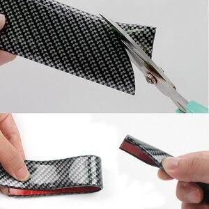 Image 3 - Protector de puerta de coche pegatinas de goma de fibra de carbono 5D, a prueba de arañazos, protección de umbral de puerta automática, productos de moldura, estilo de coche
