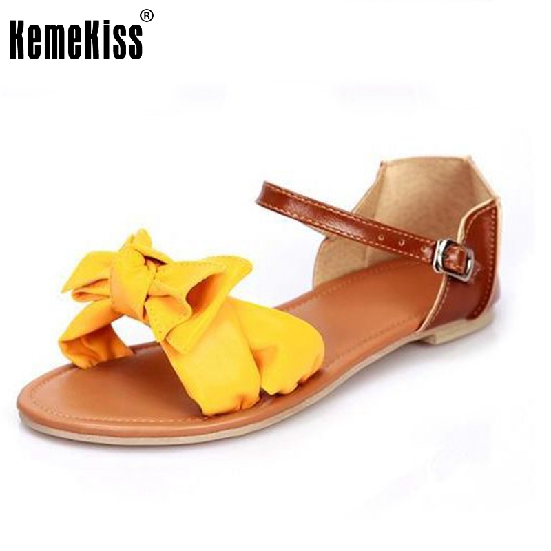 size 31-45 Women Shoes Summer Flat Sandals Bowtie Patchwork Designer Ladies shoes Buckle Flower Fashion Sweet Good PA00266