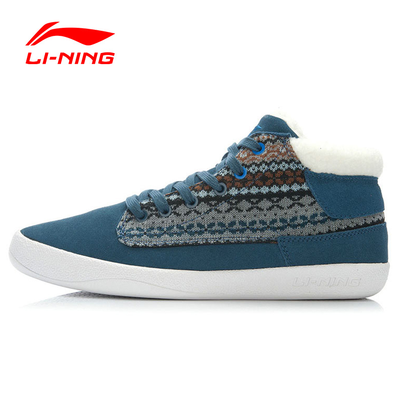 Li-Ning 2016 New Winter Outdoor Walking Shoes Men Lace Up Warm Plush Sneakers Sport Shoes Men Sapatilhas ACEJ035 XMR1063