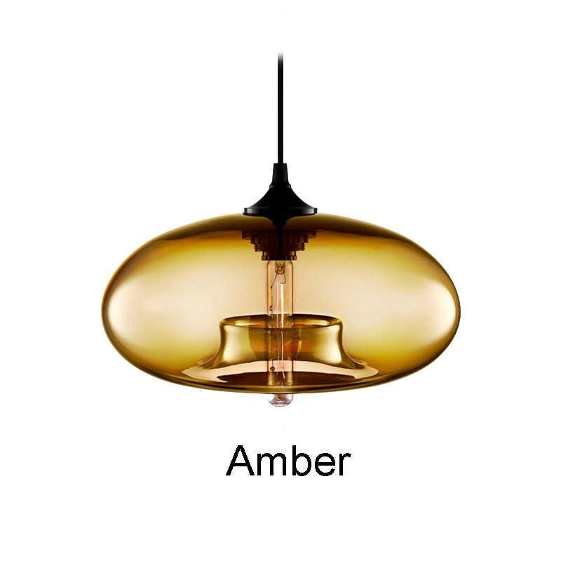 Neue Einfache Moderne Zeitgenössische hängende 6 Farbe Glas ball Anhänger Lampe Lichter Leuchten E27/E26 für Küche Restaurant Cafe bar