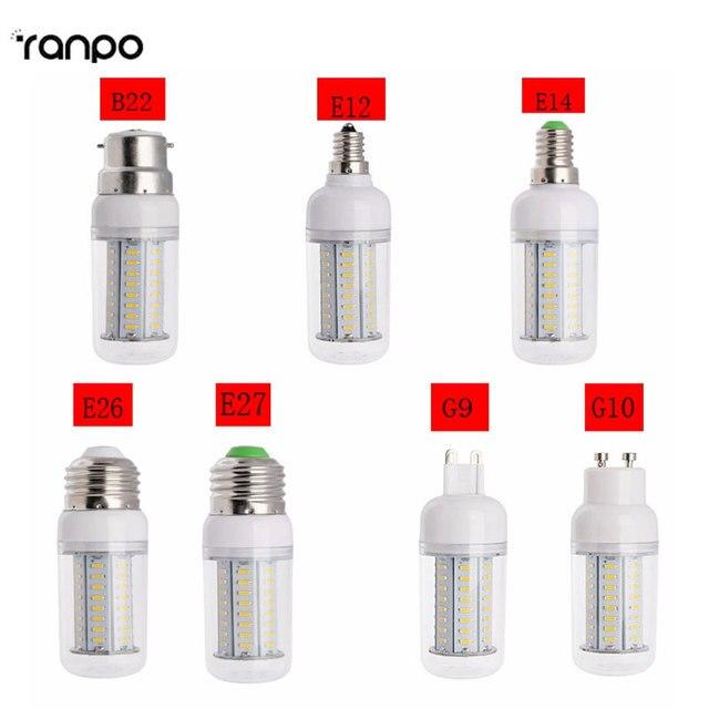 新しい調光対応ledトウモロコシ電球4014 smd 14ワット18ワット25ワットledスポットライトe27 e26 e12 e14 b22 gu10 g9 110ボルト220ボルトウォーム/コールドホワイトledランプ