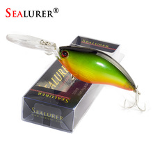 SEALURER Boxed 1Pcs Fishing Lures Float Crankbait  Minnow Excessive High quality Deal with  110mm  17.9g  Topwater  Wobblers  with 6#  Hooks