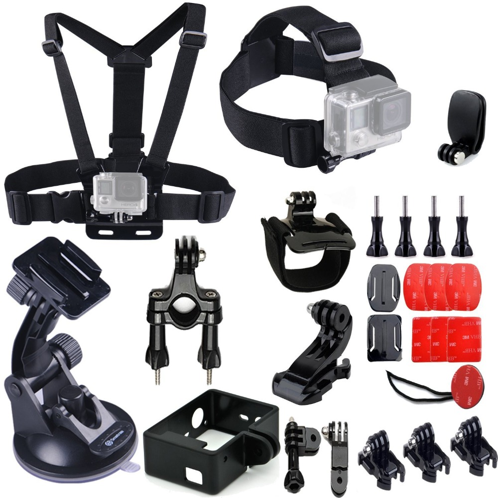 For Gopro Accessories Set Chest Strap Headband Car Bicycle