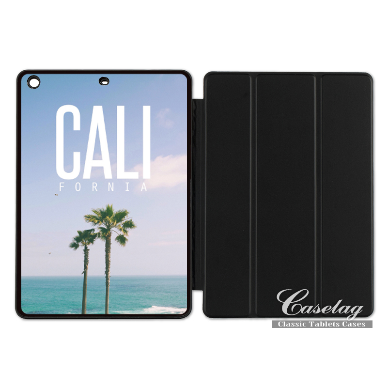 California Sea Palm Beach Surf Lovely Smart Cover Case For Apple iPad 2 3 4 Mini Air 1 Pro 9.7 10.5 12.9 New 2017 a1822