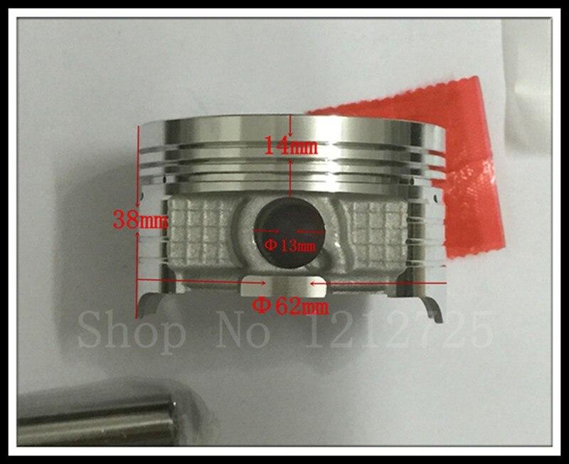 Motosiklet pistonu və üzük CG150 (62MM), bir piston pinli 13mm - Motosiklet aksesuarları və ehtiyat hissələri - Fotoqrafiya 4