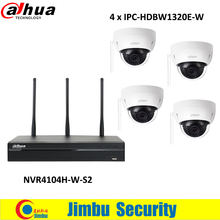 Dahua wifi NVR NVR4104HS-W-S2 4CH 2.4GHz and 5GHz 3MP IPC-HDBW1320E-W wifi IP camera p2p easy4ip Surveillance Camera kit