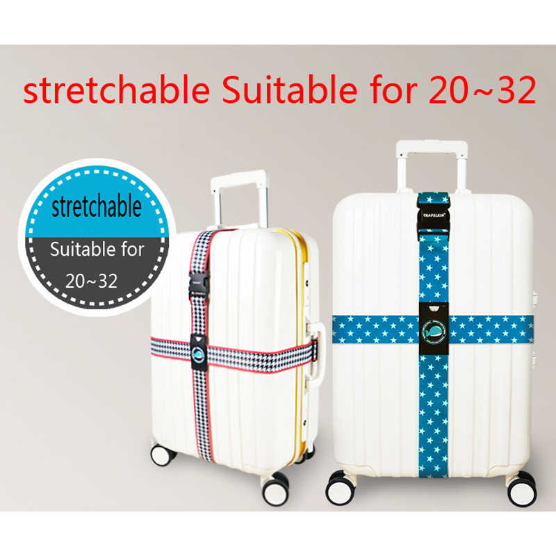 Pasek bagażowy krzyż pas opakowanie regulowana walizka podróżna pasek walizka z akcesoria podróżne pasek bagażowy s H168