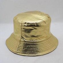 New Men Women Summer Sports Bucket Hat Golden Sliver Visor Bob Panama Cap Couple Fashion Outdoor Beach Fisherman Sun Hats