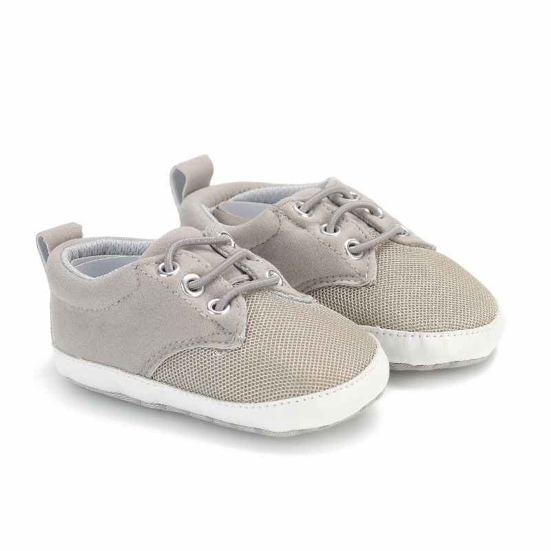 Baby Moccasins Baby Schoenen Grey Air Mesh Sport Shoes For Baby Boy Kid Casual Shoes Soft Sole Pram Shoes Toddler Sneakers 0-18M