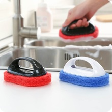 1PC magic sponge eraser Bath Brush Tiles Wash Pot Clean Sponge bathroom accessories Kitchen cleaning brush